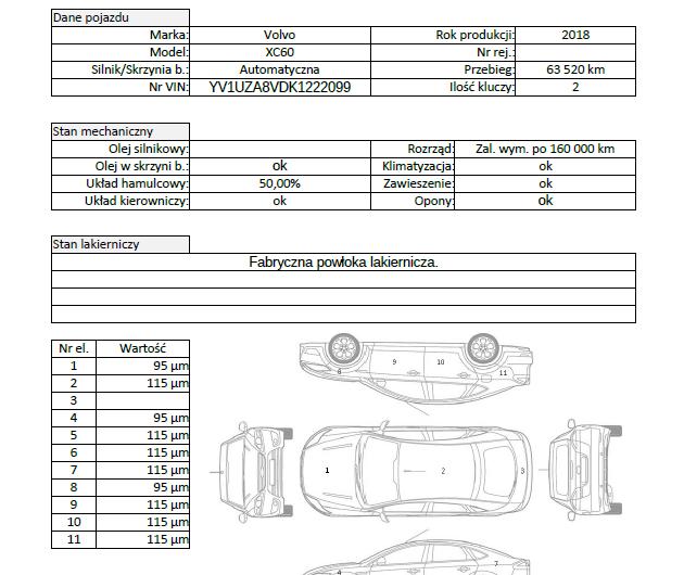 VOLVO XC60 190KM 2018′ Polska VAT23
